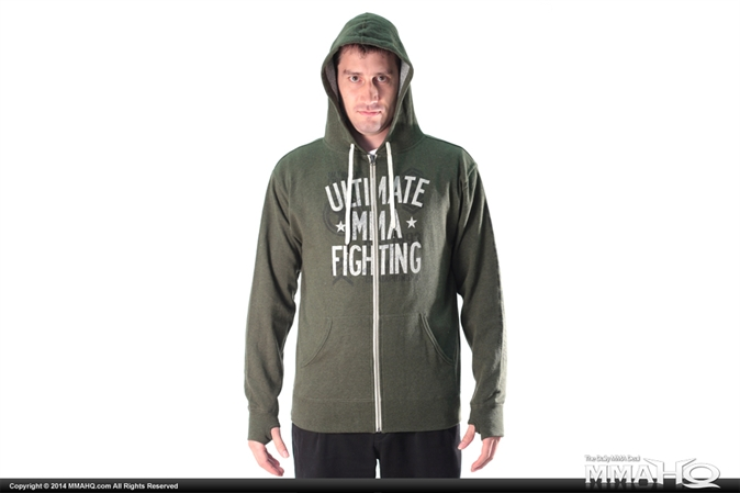 Ultimate Fighting Green Zip Up Hoodie